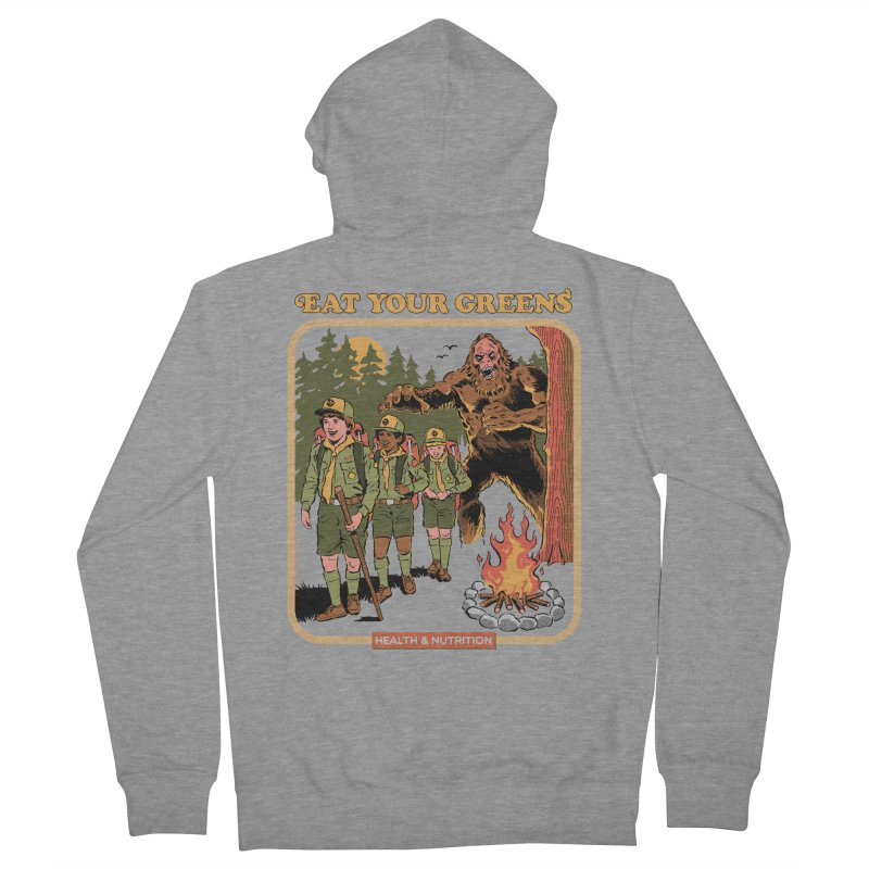 Eat Your Greens Women's French Terry Zip-Up Hoody by Steven Rhodes