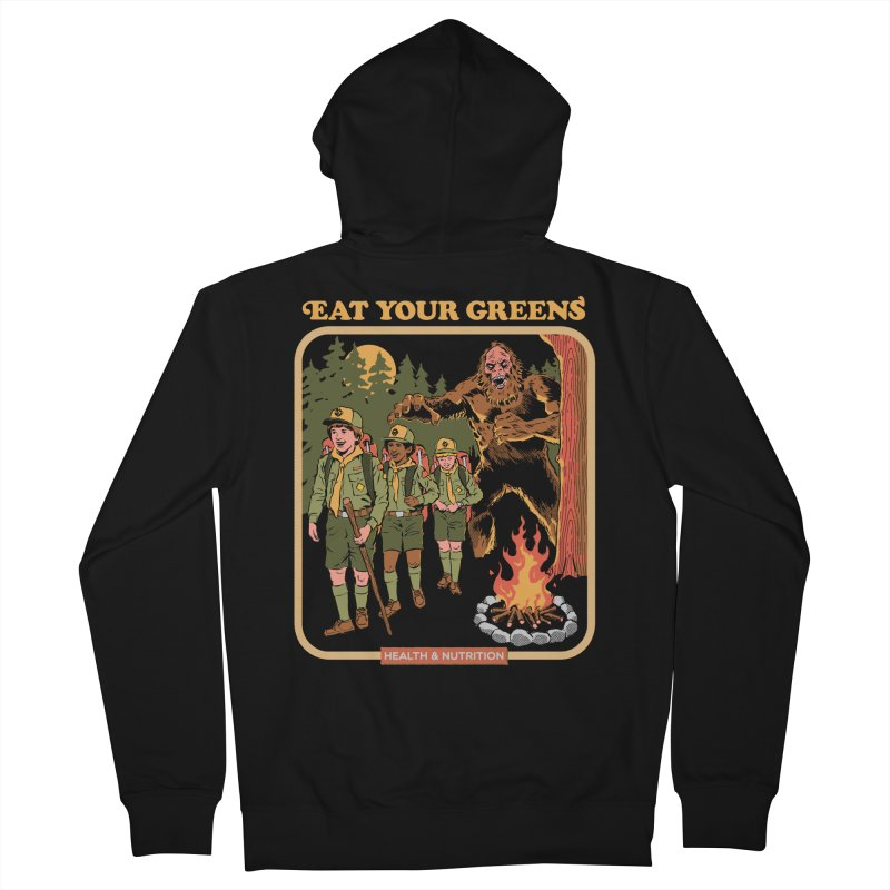 Eat Your Greens Men's French Terry Zip-Up Hoody by Steven Rhodes
