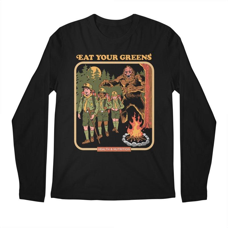 Eat Your Greens Men's Regular Longsleeve T-Shirt by Steven Rhodes