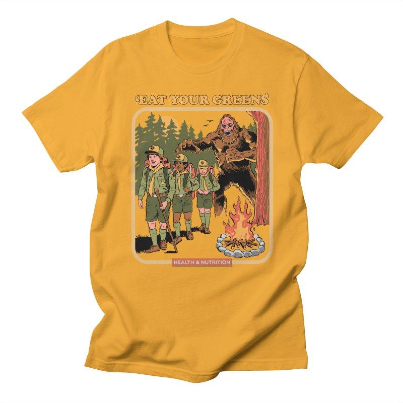 Eat Your Greens Men's Regular T-Shirt by Steven Rhodes