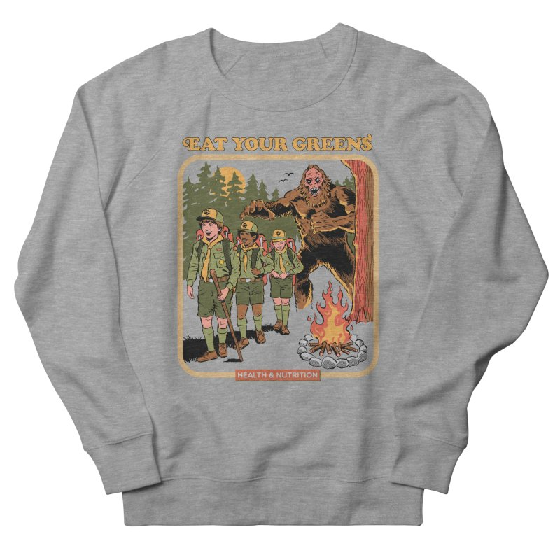 Eat Your Greens Men's French Terry Sweatshirt by Steven Rhodes