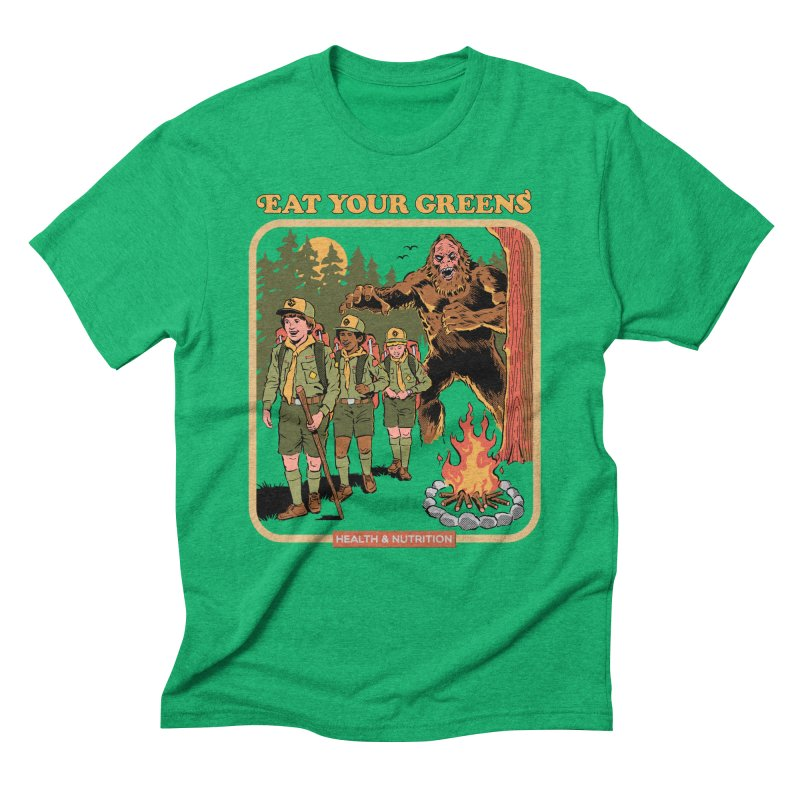 Eat Your Greens Men's Triblend T-Shirt by Steven Rhodes