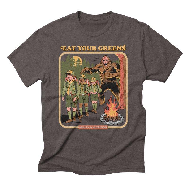 Eat Your Greens Men's Triblend T-Shirt by Steven Rhodes