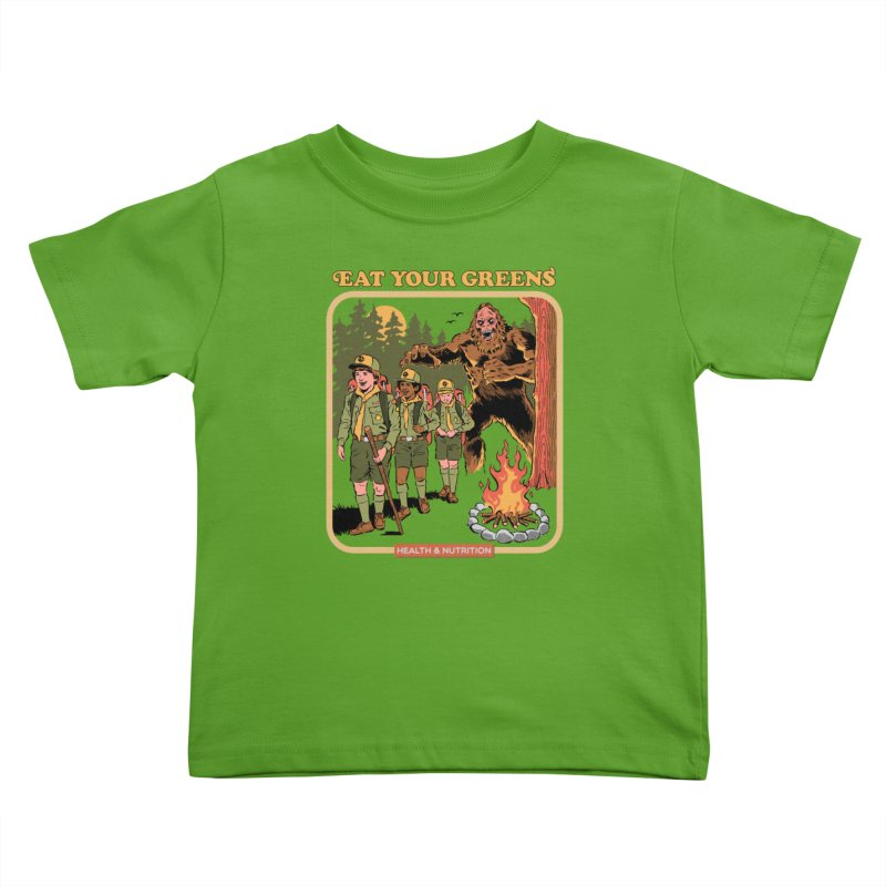 Eat Your Greens Kids Toddler T-Shirt by Steven Rhodes