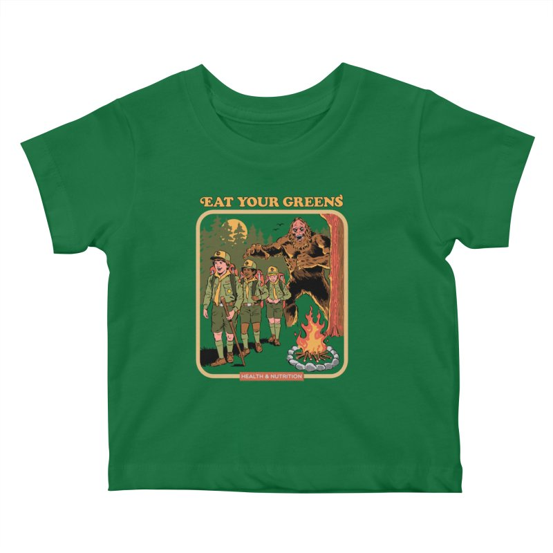 Eat Your Greens Kids Baby T-Shirt by Steven Rhodes