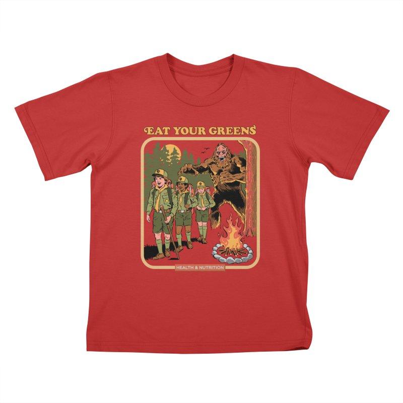 Eat Your Greens Kids T-Shirt by Steven Rhodes