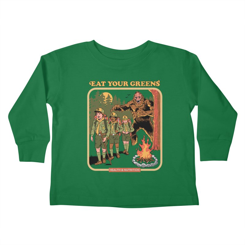 Eat Your Greens Kids Toddler Longsleeve T-Shirt by Steven Rhodes