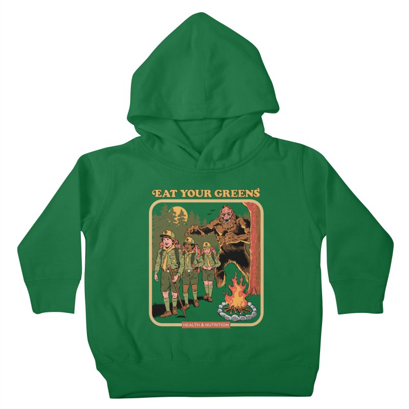 Eat Your Greens Kids Toddler Pullover Hoody by Steven Rhodes