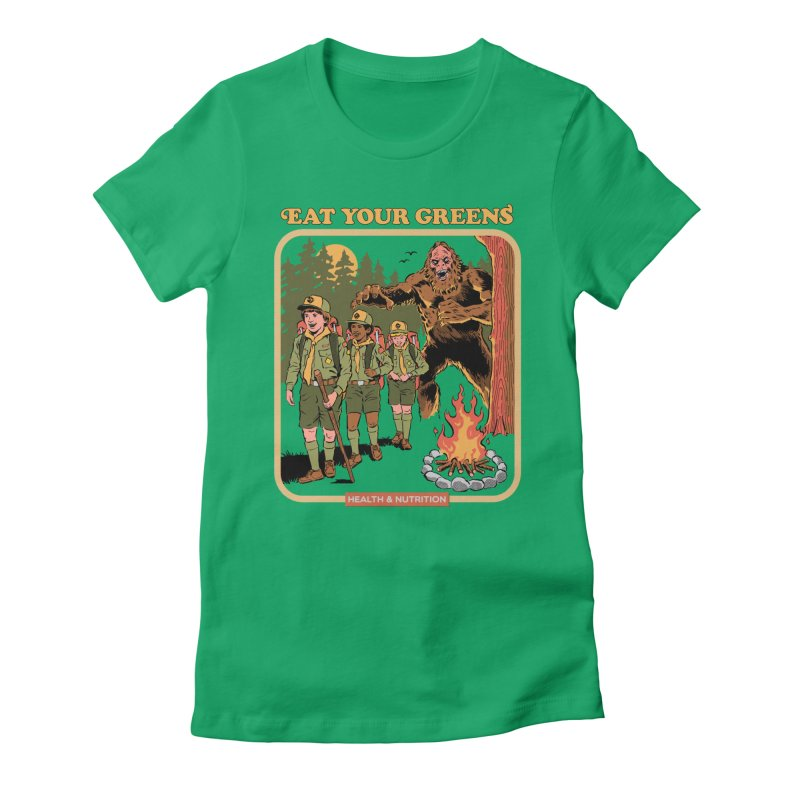 Eat Your Greens Women's Fitted T-Shirt by Steven Rhodes