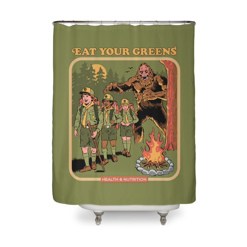Eat Your Greens Home Shower Curtain by Steven Rhodes