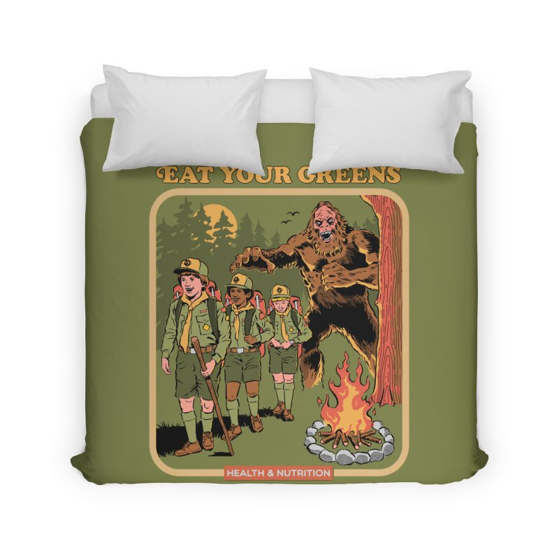 Eat Your Greens Home Duvet by Steven Rhodes
