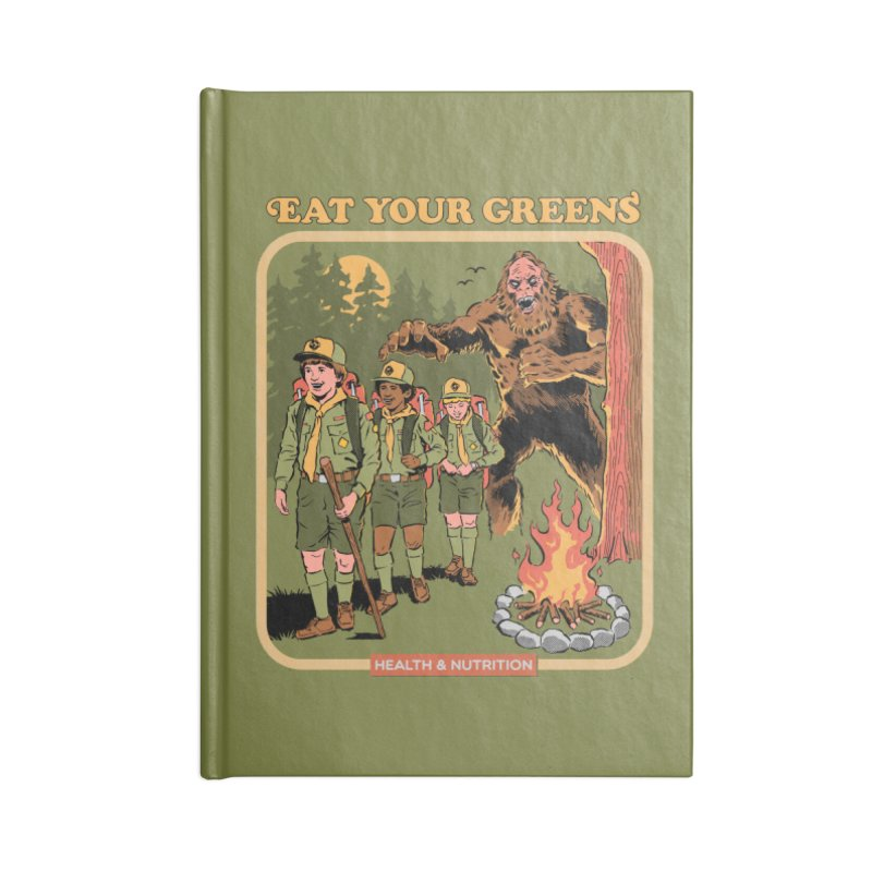 Eat Your Greens Accessories Lined Journal Notebook by Steven Rhodes
