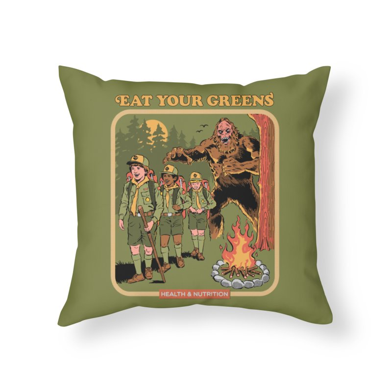 Eat Your Greens Home Throw Pillow by Steven Rhodes