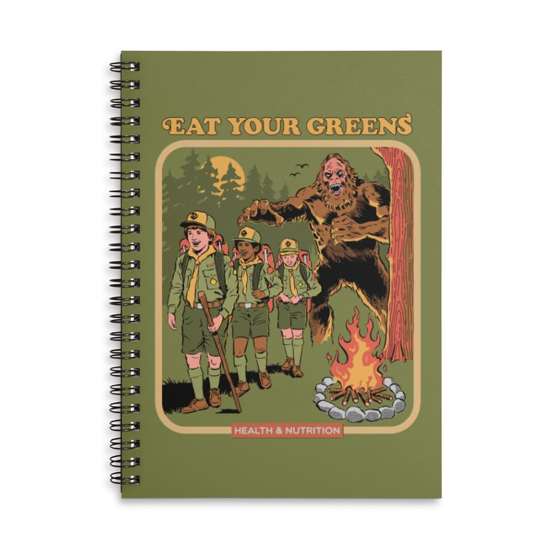 Eat Your Greens Accessories Lined Spiral Notebook by Steven Rhodes
