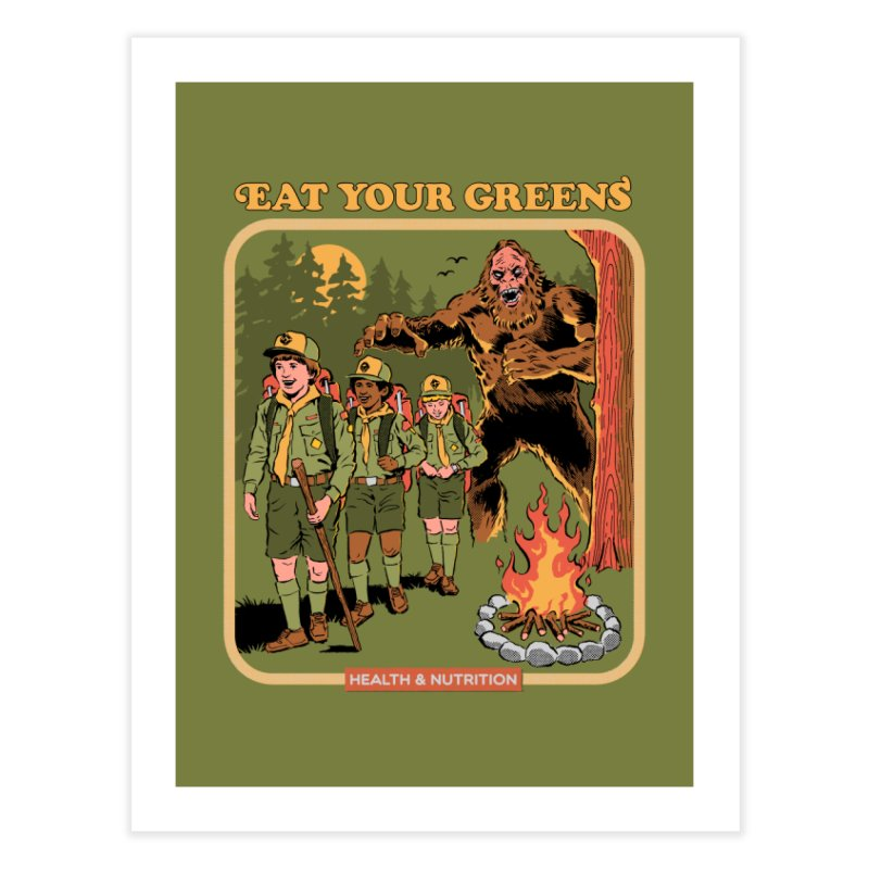 Eat Your Greens Home Fine Art Print by Steven Rhodes