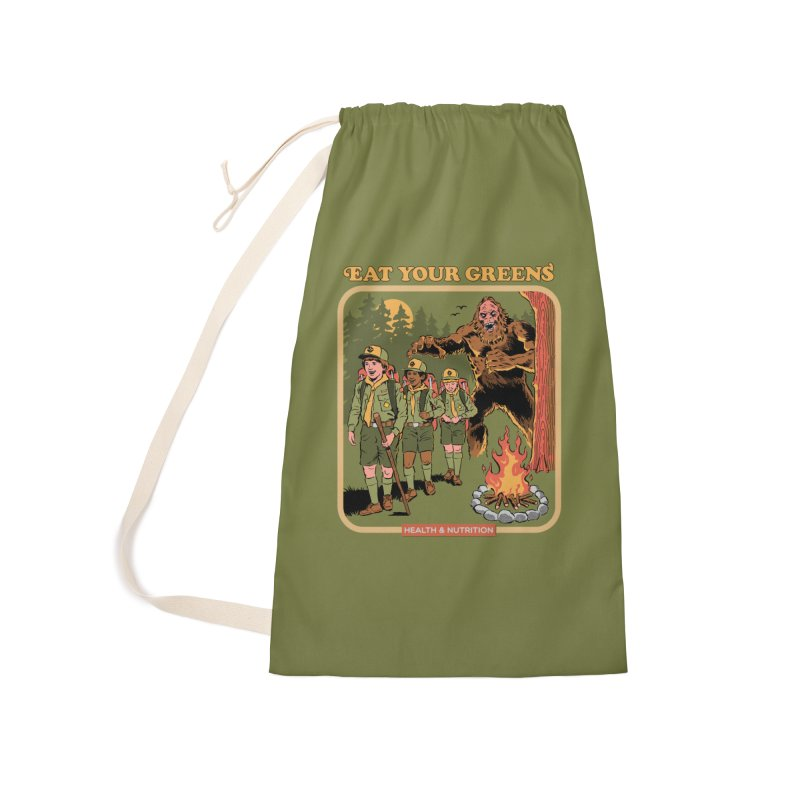 Eat Your Greens Accessories Laundry Bag Bag by Steven Rhodes