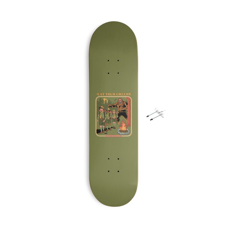 Eat Your Greens Accessories With Hanging Hardware Skateboard by Steven Rhodes