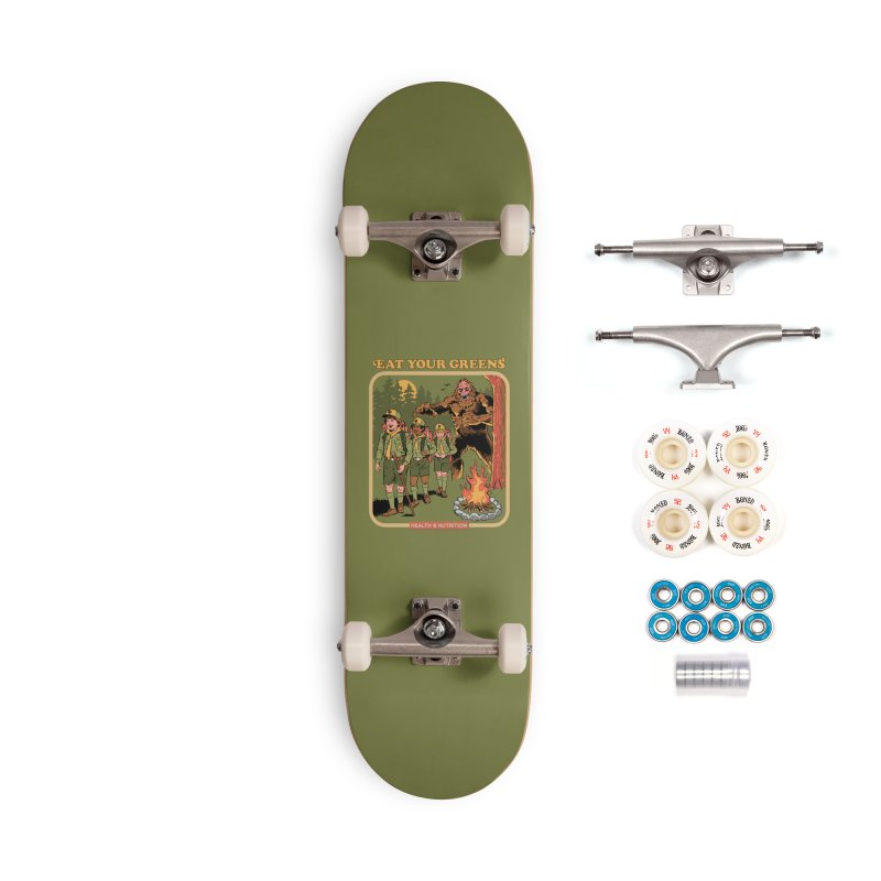 Eat Your Greens Accessories Complete - Premium Skateboard by Steven Rhodes