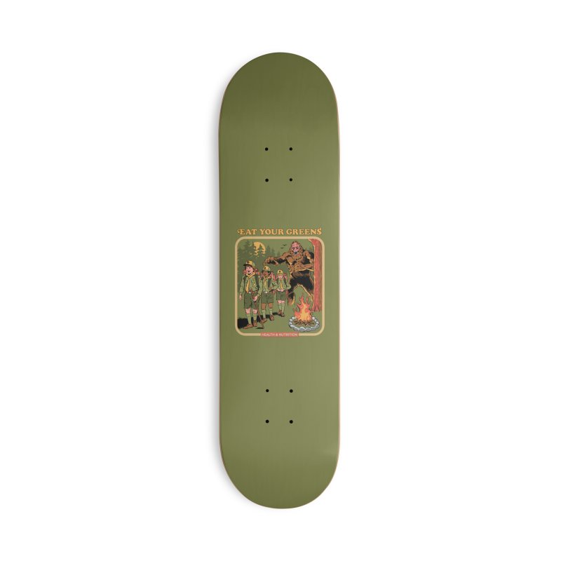 Eat Your Greens Accessories Deck Only Skateboard by Steven Rhodes