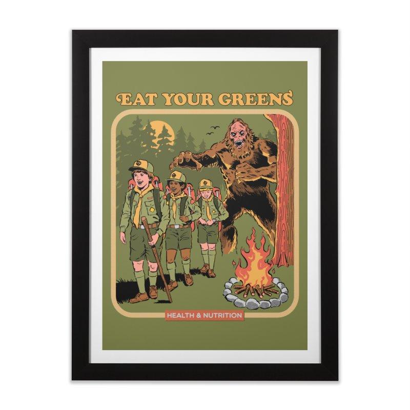 Eat Your Greens Home Framed Fine Art Print by Steven Rhodes