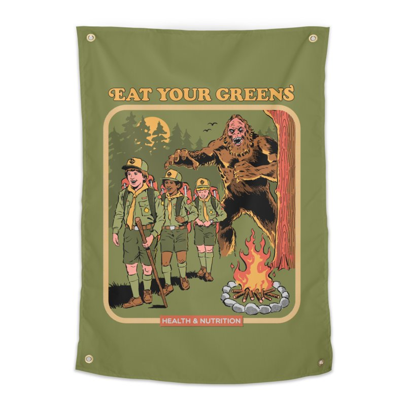 Eat Your Greens Home Tapestry by Steven Rhodes
