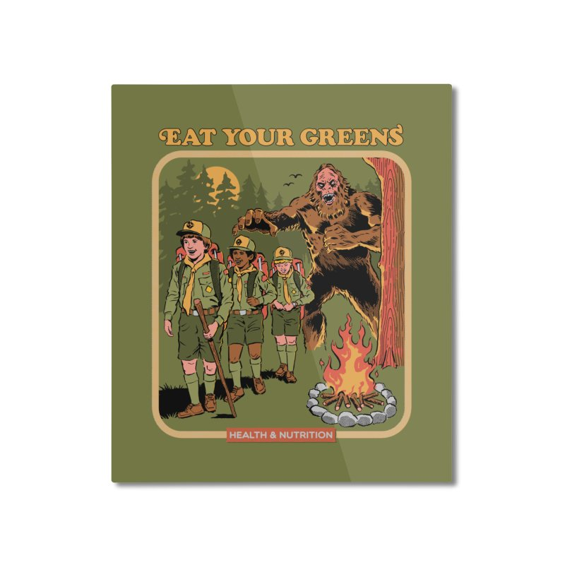 Eat Your Greens Home Mounted Aluminum Print by Steven Rhodes