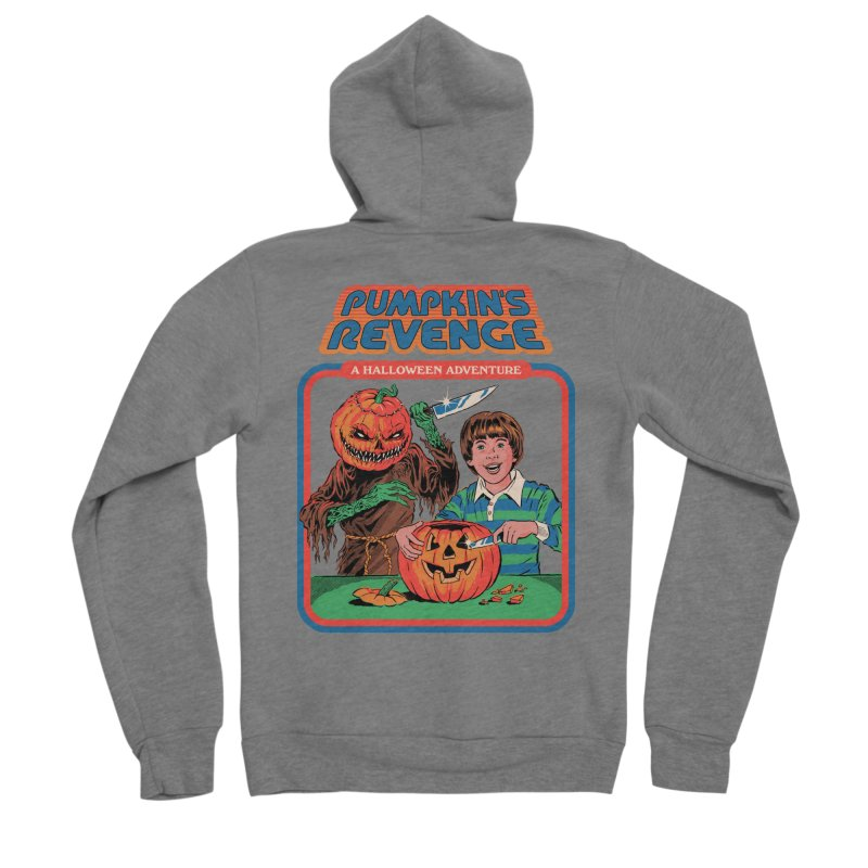 Pumpkin's Revenge Women's Sponge Fleece Zip-Up Hoody by Steven Rhodes