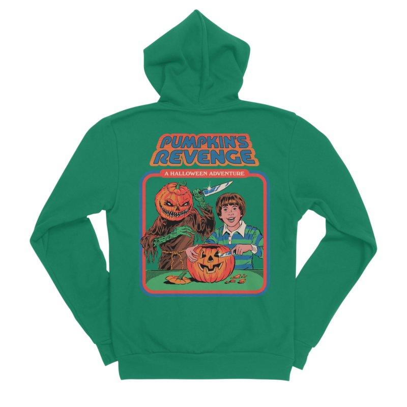 Pumpkin's Revenge Men's Sponge Fleece Zip-Up Hoody by Steven Rhodes