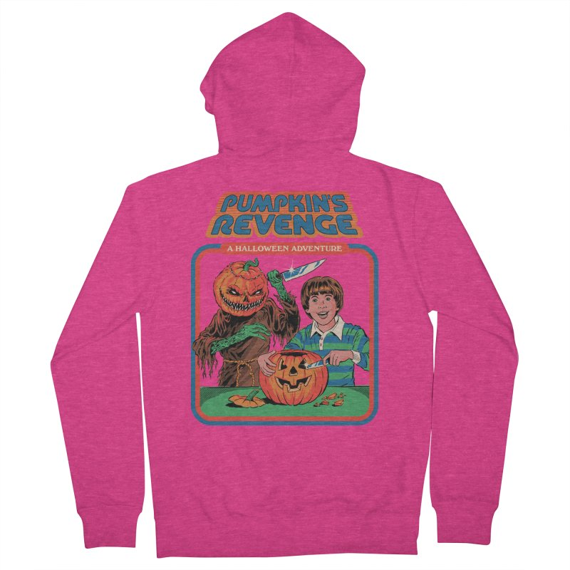 Pumpkin's Revenge Women's French Terry Zip-Up Hoody by Steven Rhodes