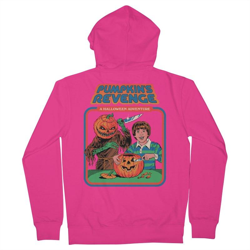 Pumpkin's Revenge Men's French Terry Zip-Up Hoody by Steven Rhodes