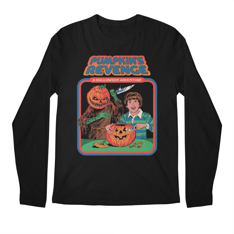 Pumpkin's Revenge Men's Regular Longsleeve T-Shirt by Steven Rhodes