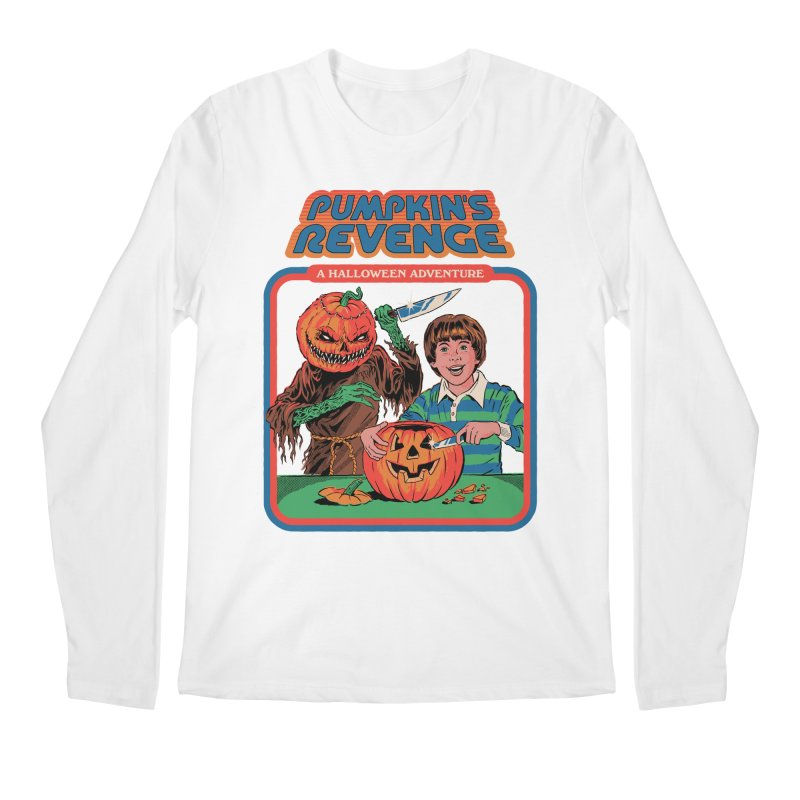 Pumpkin's Revenge Men's Regular Longsleeve T-Shirt by Steven Rhodes