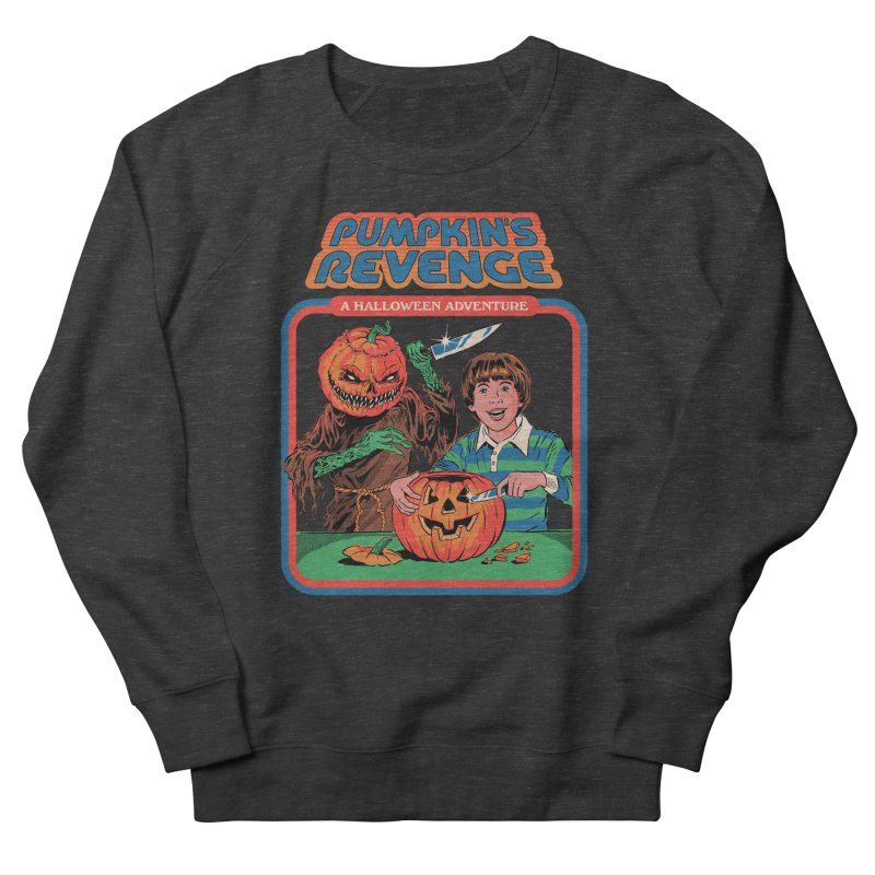 Pumpkin's Revenge Men's French Terry Sweatshirt by Steven Rhodes