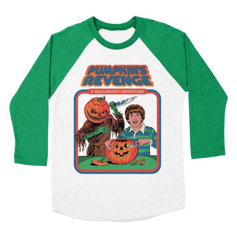 Pumpkin's Revenge Women's Baseball Triblend Longsleeve T-Shirt by Steven Rhodes