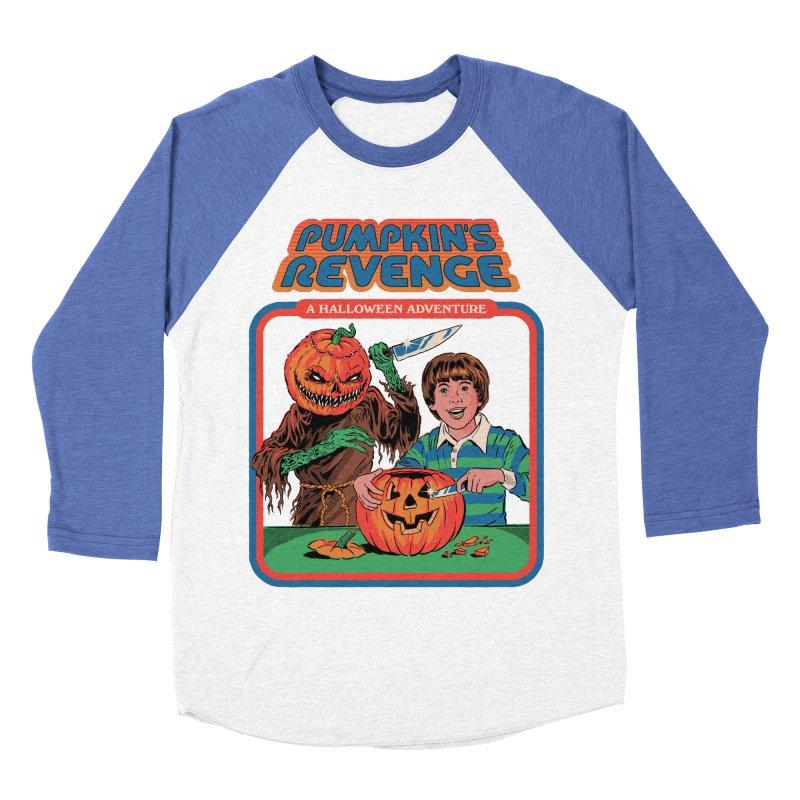 Pumpkin's Revenge Men's Baseball Triblend Longsleeve T-Shirt by Steven Rhodes