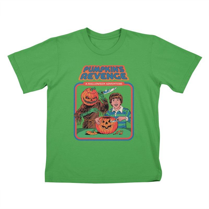 Pumpkin's Revenge Kids T-Shirt by Steven Rhodes