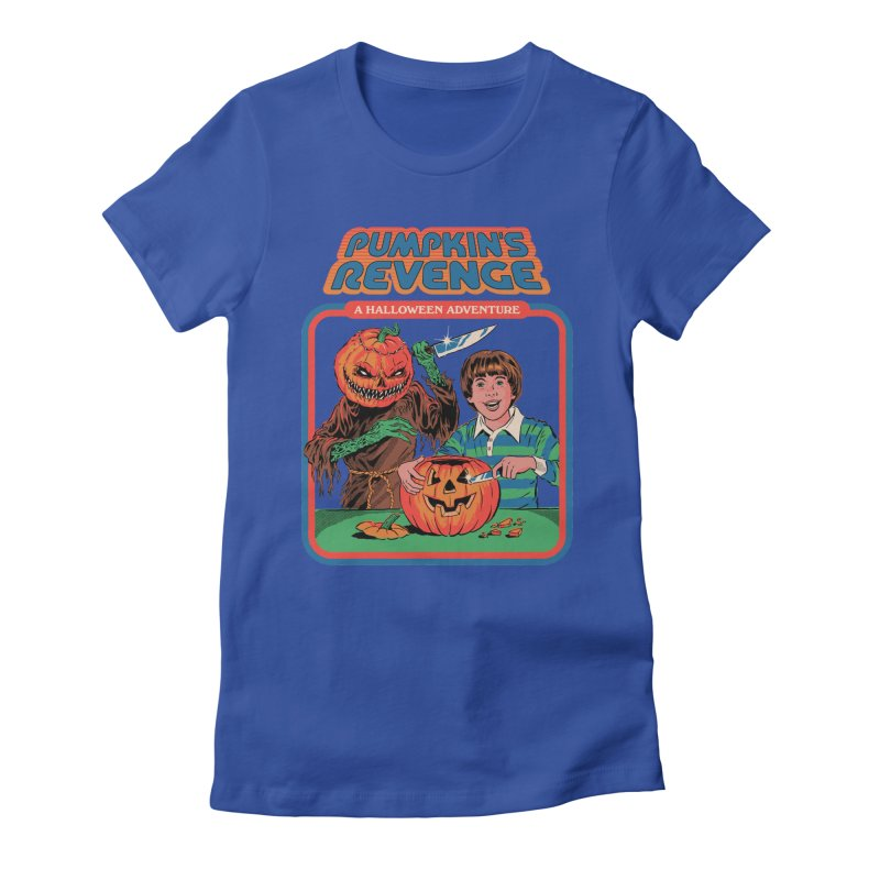 Pumpkin's Revenge Women's Fitted T-Shirt by Steven Rhodes
