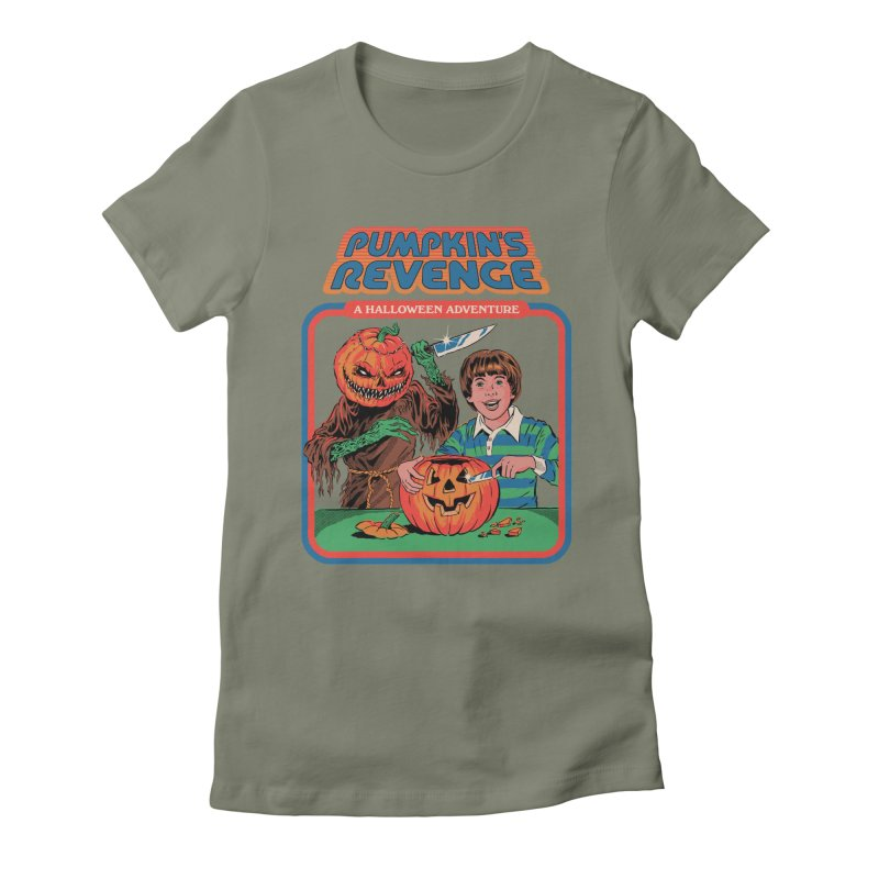 Pumpkin's Revenge Women's Fitted T-Shirt by Steven Rhodes