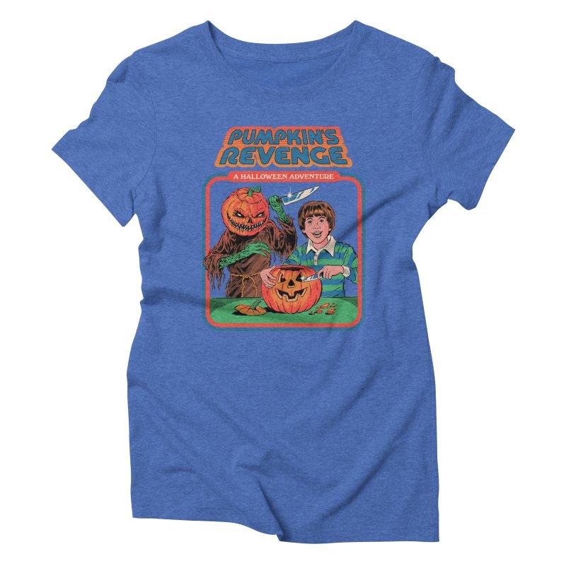 Pumpkin's Revenge Women's Triblend T-Shirt by Steven Rhodes