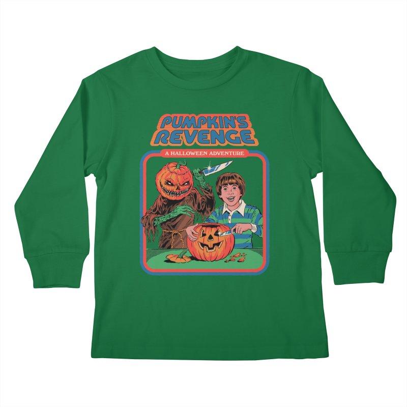 Pumpkin's Revenge Kids Longsleeve T-Shirt by Steven Rhodes