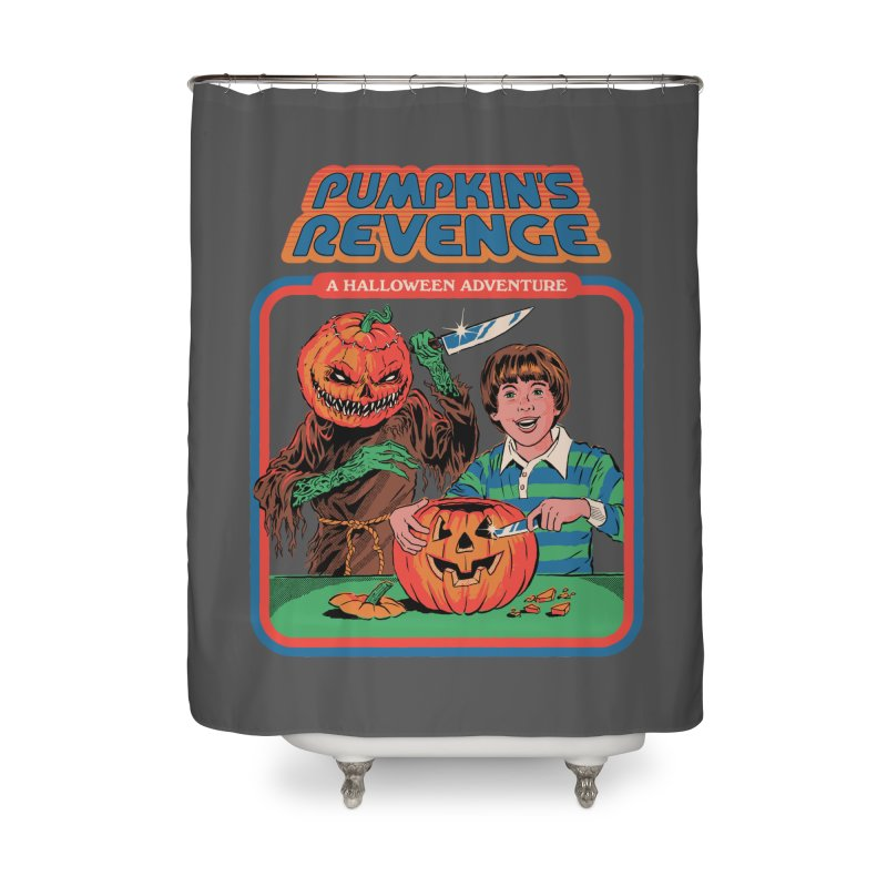 Pumpkin's Revenge Home Shower Curtain by Steven Rhodes