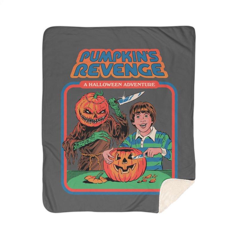 Pumpkin's Revenge Home Sherpa Blanket Blanket by Steven Rhodes