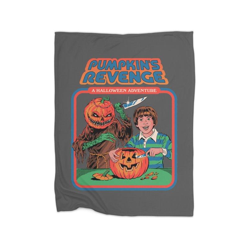 Pumpkin's Revenge Home Fleece Blanket Blanket by Steven Rhodes