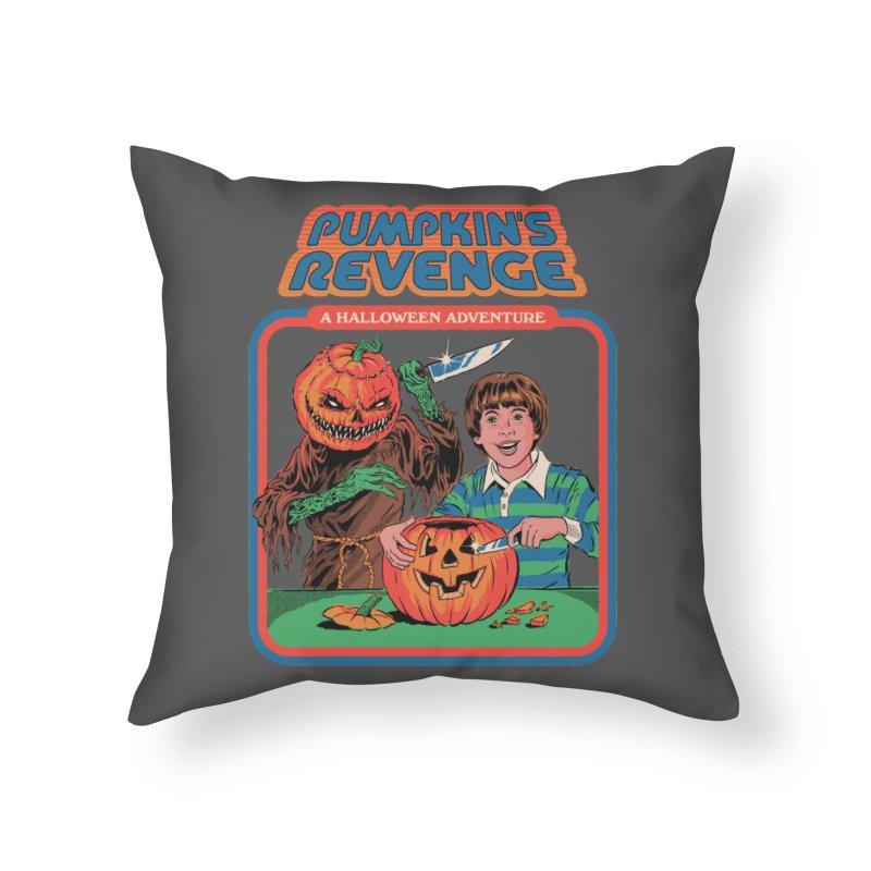 Pumpkin's Revenge Home Throw Pillow by Steven Rhodes