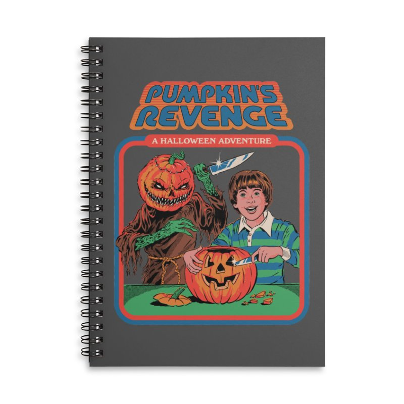 Pumpkin's Revenge Accessories Lined Spiral Notebook by Steven Rhodes