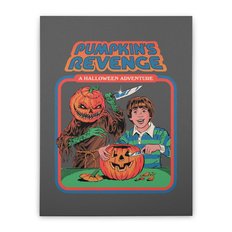 Pumpkin's Revenge Home Stretched Canvas by Steven Rhodes