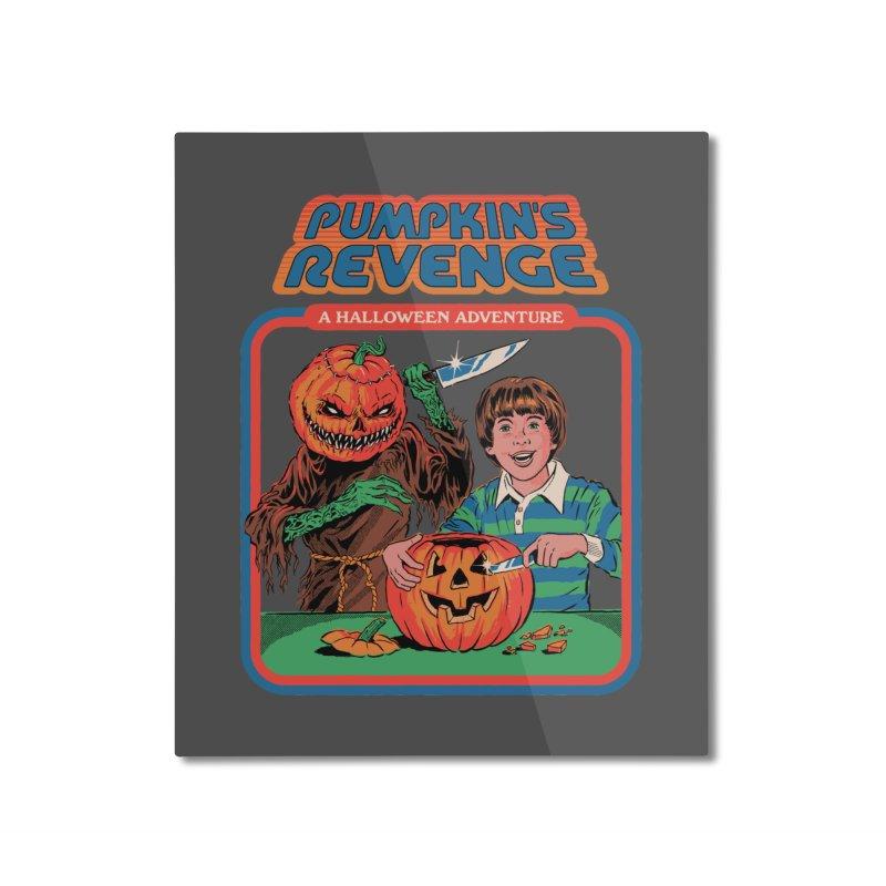 Pumpkin's Revenge Home Mounted Aluminum Print by Steven Rhodes