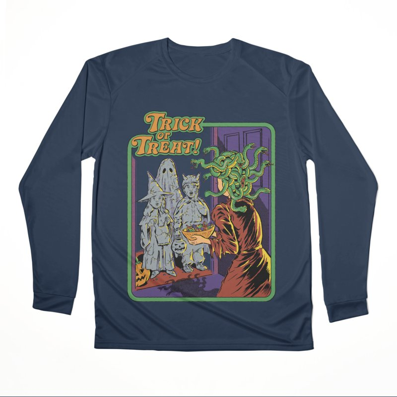 Trick or Treat Men's Performance Longsleeve T-Shirt by Steven Rhodes