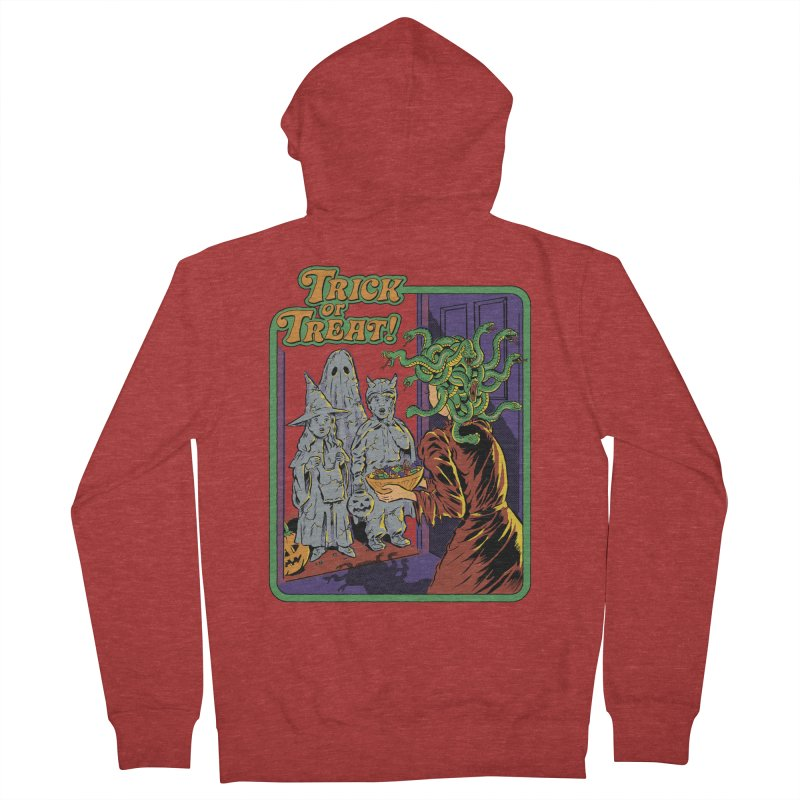 Trick or Treat Women's French Terry Zip-Up Hoody by Steven Rhodes