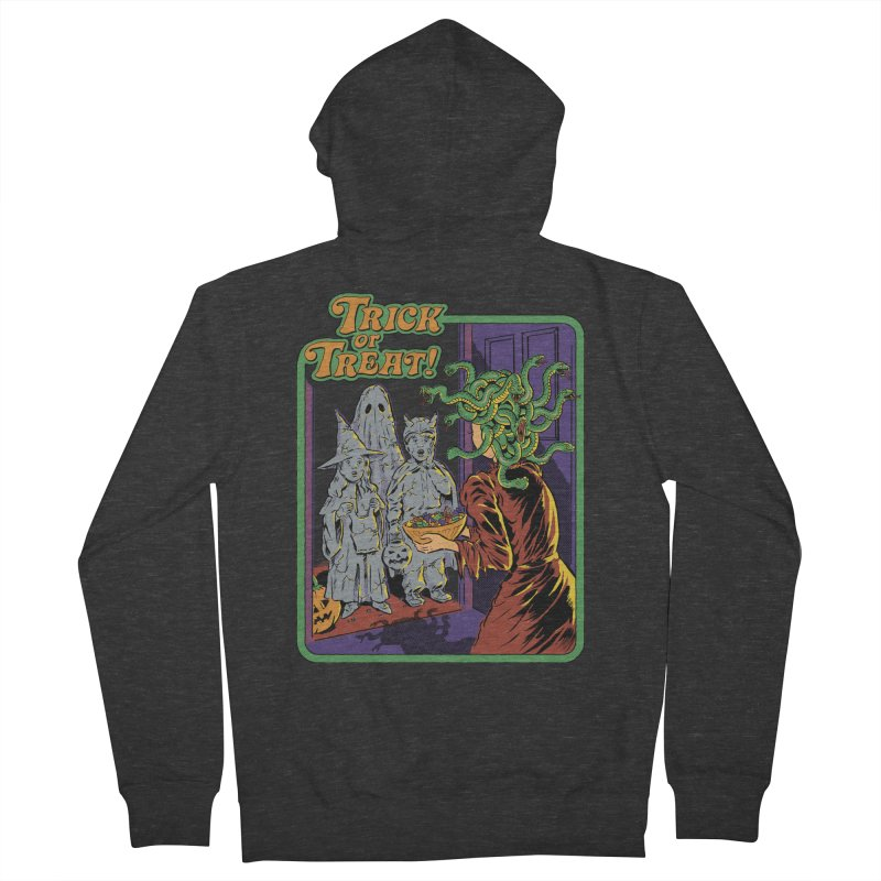 Trick or Treat Men's French Terry Zip-Up Hoody by Steven Rhodes